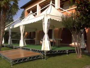 Gazebo 4x4 su pedana Jolly